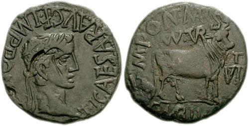 monnaie provinciale de Turiaso en Espagne pour Tibère 12306310