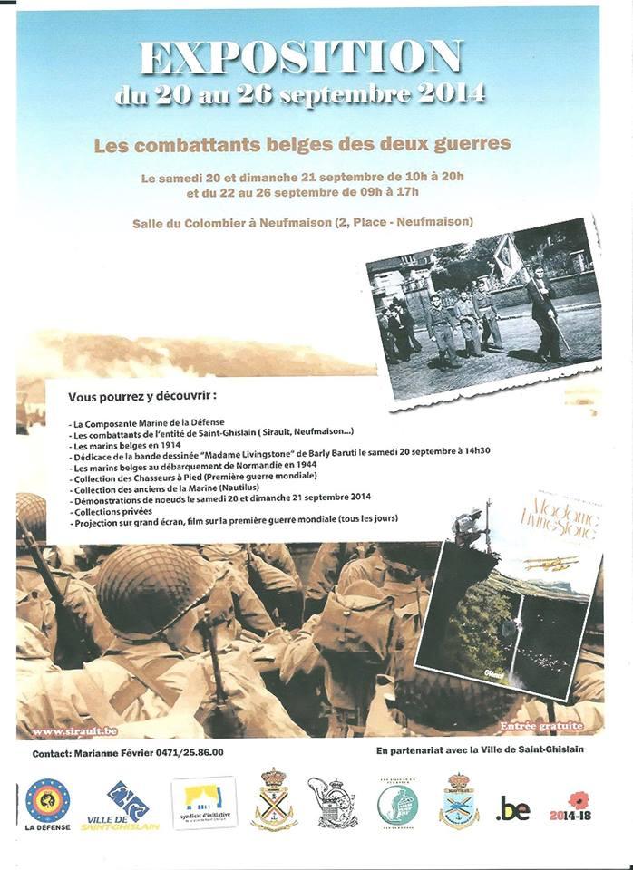 Exposition à Neufmaison (Saint-Ghislain) du 20 au 26.09.2014 16138410