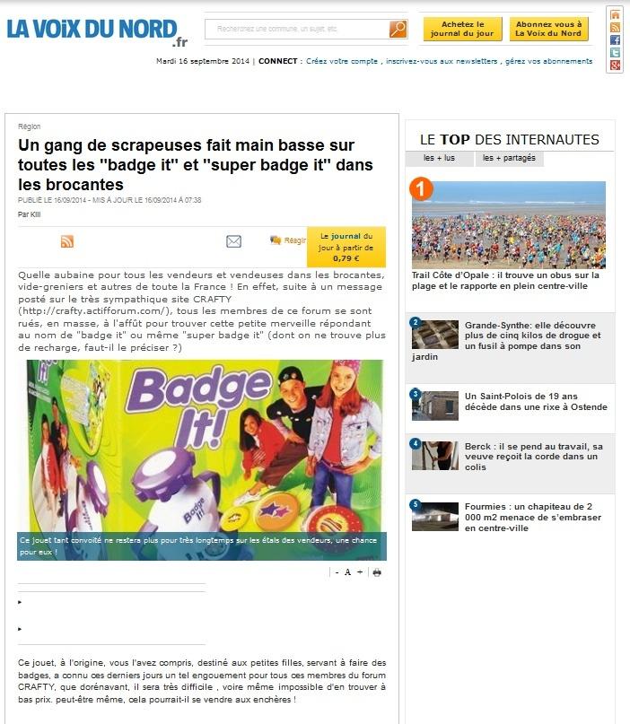 """au sujet de la machine à badges """"badge it"""" - Page 3 Journa10"""