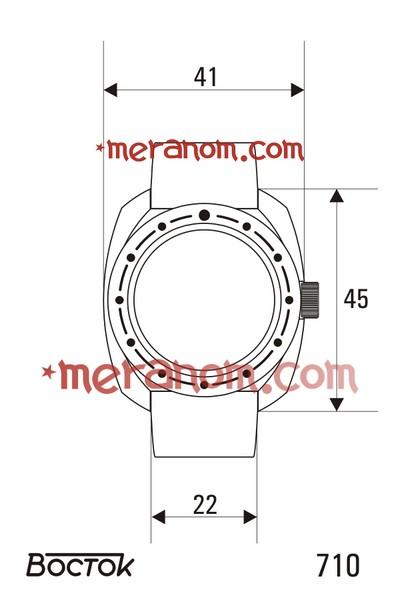 Amphibia - Dimensions des boitiers et entrecornes  Vostok22
