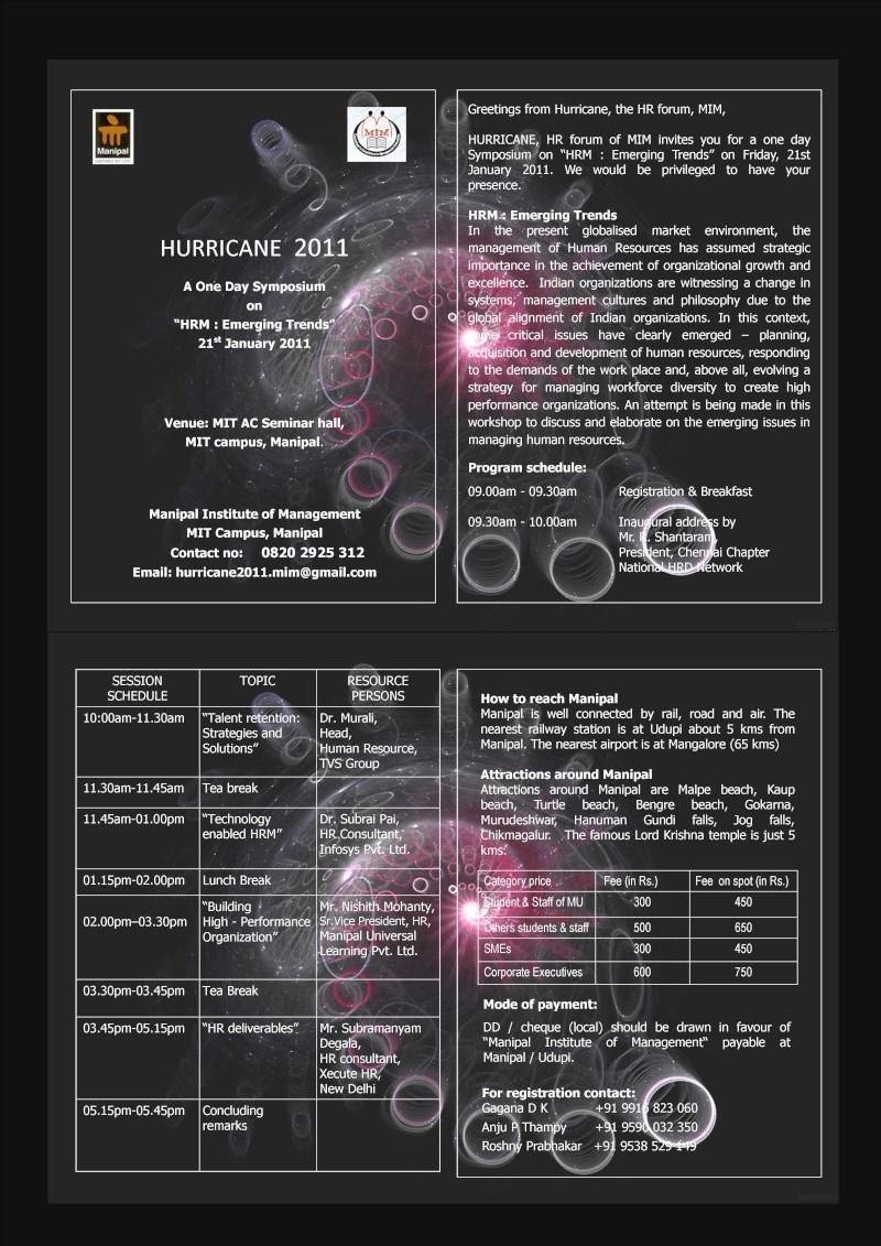 Hurricane 2011 @ A/C Seminar Hall from MIM Hurric10