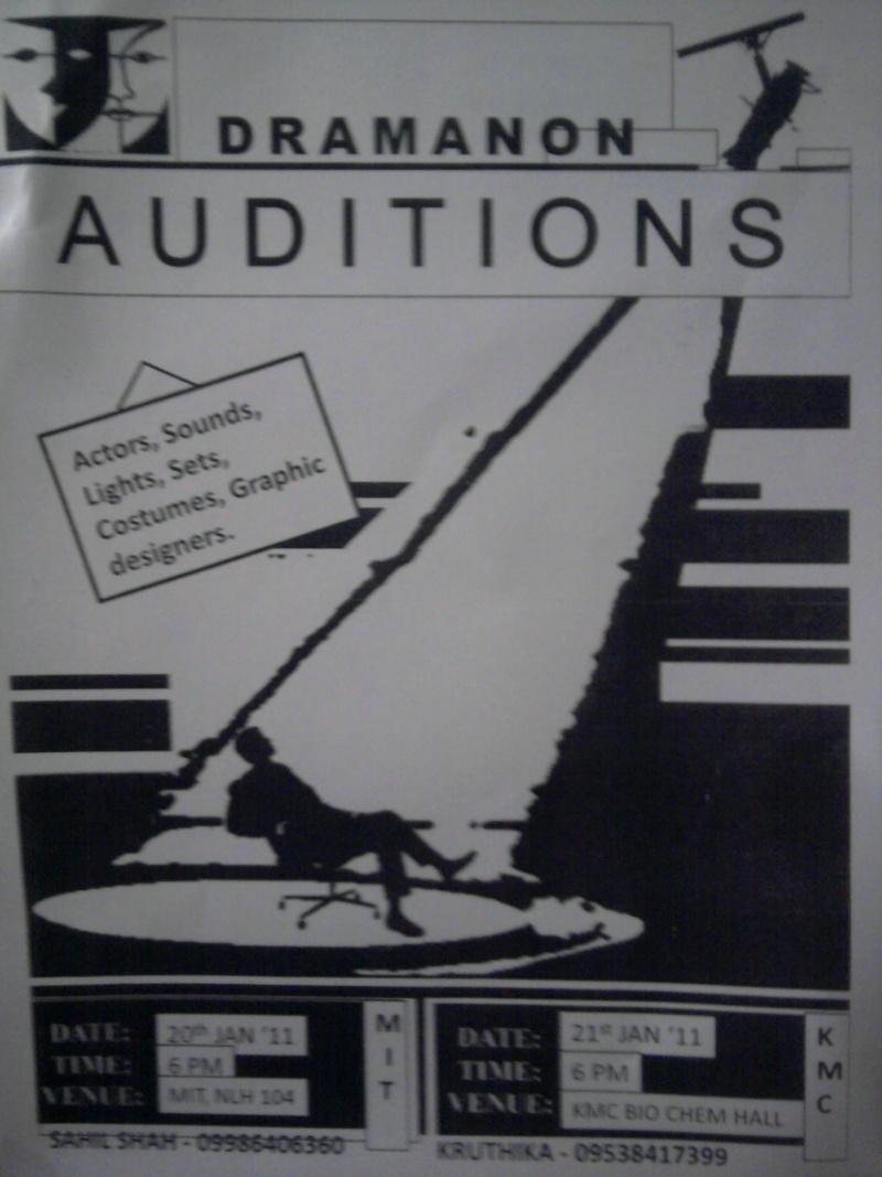 DRAMANON Auditions (Last Date 20th Jan) Photo026