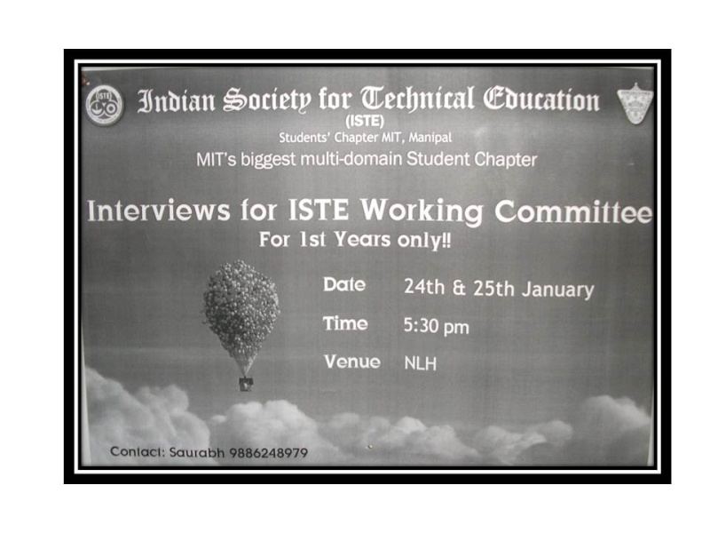 Interview for ISTE Working Committe Slide115