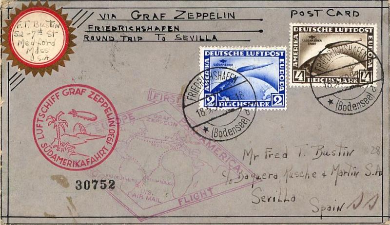 """Südamerikafahrt 1930 (Rundfahrt-) Post nach Friedrichshafen"""" - Seite 5 57_o10"""