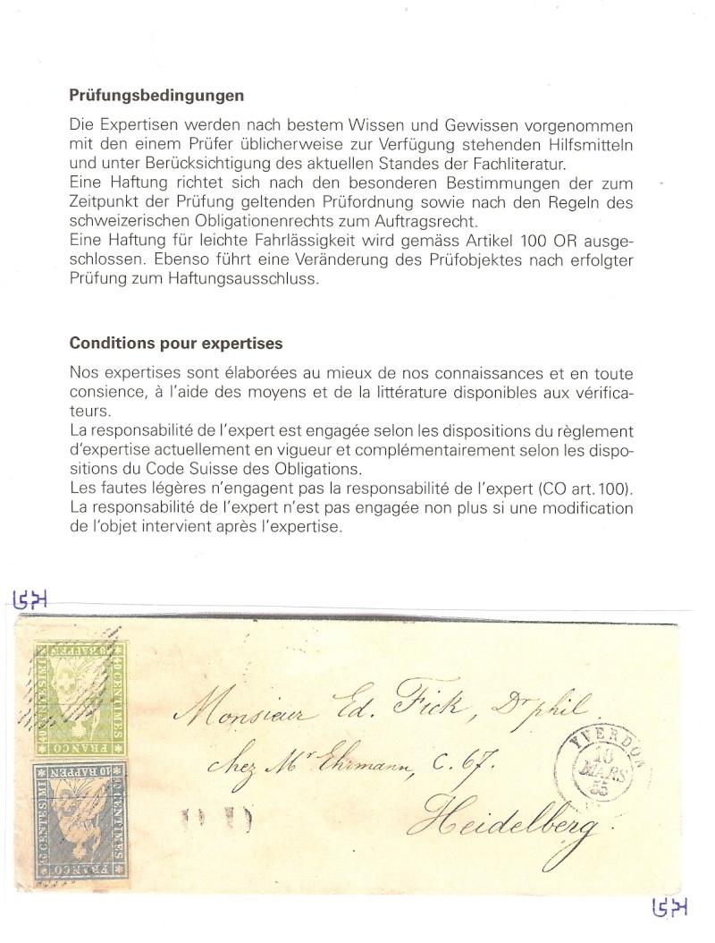 """Schweiz 1854-1863 """"Strubel"""" Sitzende Helvetia Ungezähnt Attest11"""