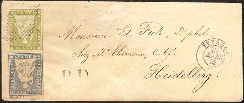 """Schweiz 1854-1863 """"Strubel"""" Sitzende Helvetia Ungezähnt Schwei10"""