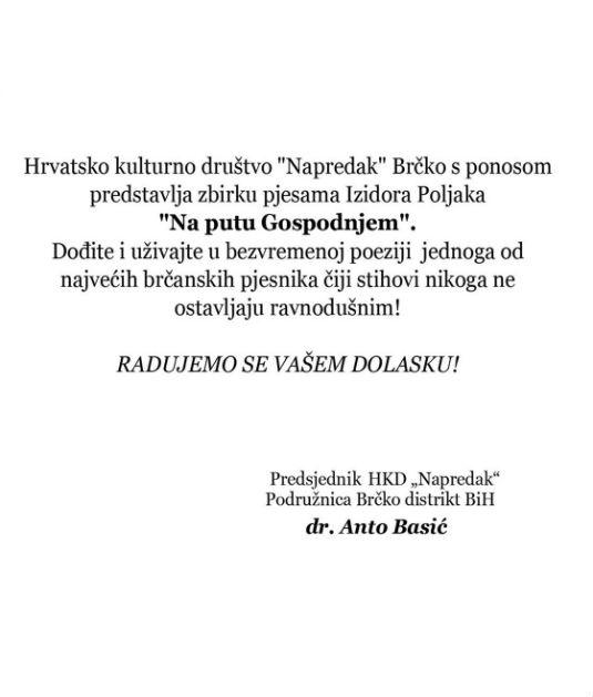 Promocija knjige Izidora Poljaka ,,NA PUTU GOSPODNJEM'' 1112