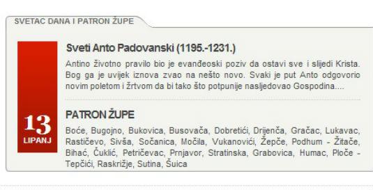 Sveti Anto Padovanski - Patron župe Boće 122