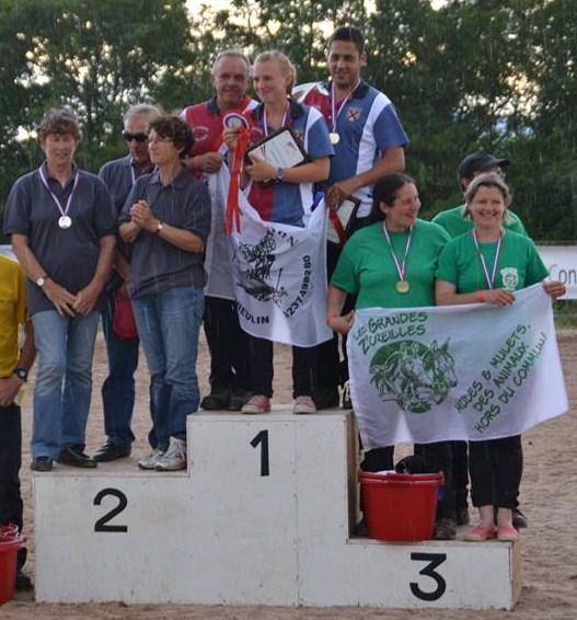 un podium : 3eme au Championnat de France de trec en attelage 2014  10505410