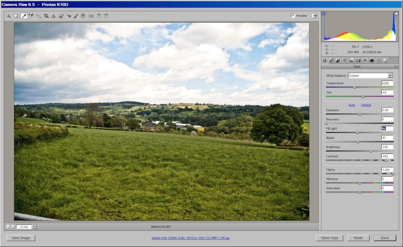 Using RAW image to increase dynamic range Fourgr10