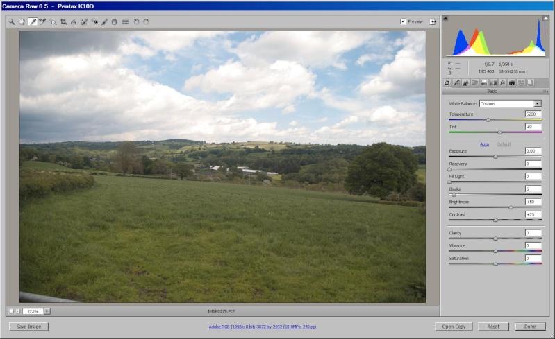 Using RAW image to increase dynamic range Start10