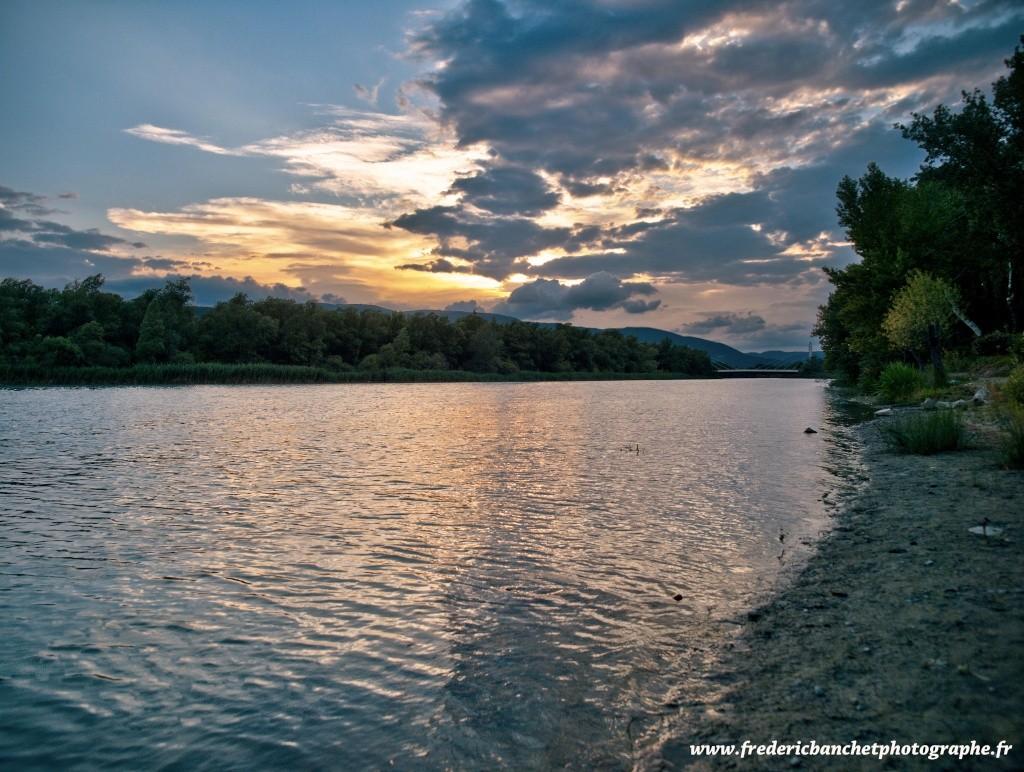 coucher de soleil sur la Durance P7061310