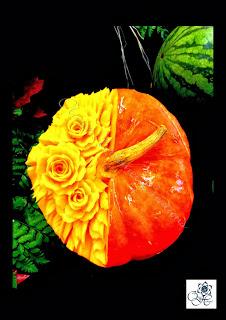 sculptures sur des fruits et légumes Dossie10