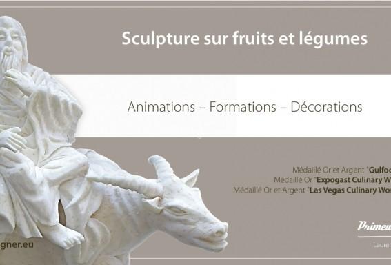 sculptures sur des fruits et légumes T25_fl10