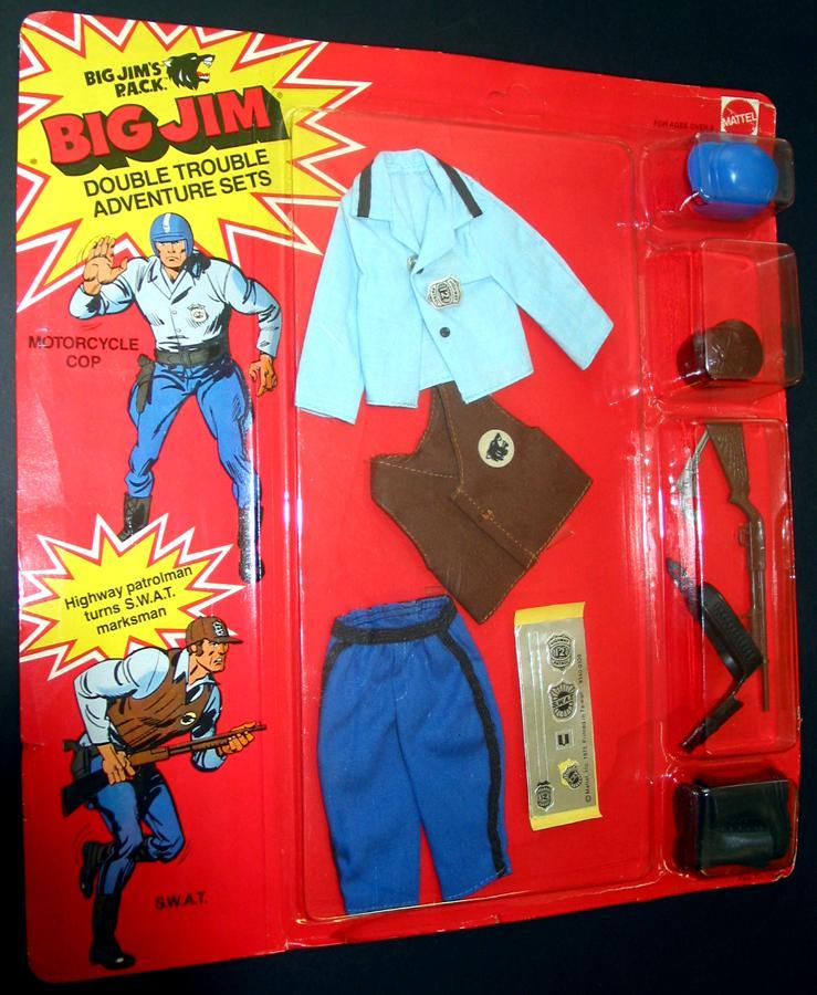 Big Jim's P.A.C.K. Double Trouble Adventure Sets Motorcycle Cop/S.W.A.T. No.9340 Pack_110
