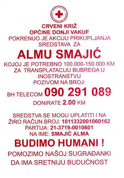 Almi Smajić potrebno je 100 do 150 hiljada KM za transplataciju bubrega. 30327_10