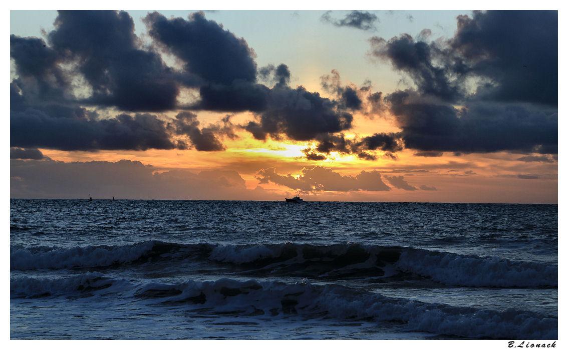 Sur la plage du Havre le 25 décembre Plage11
