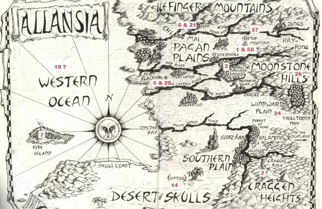 Cartes de Titan avec la localisation des DF Allans10