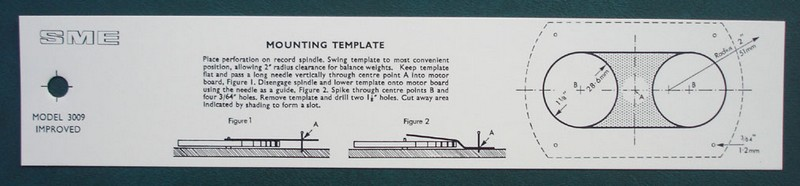 SME3009 mounting template  gabarit de perçage Sme30010