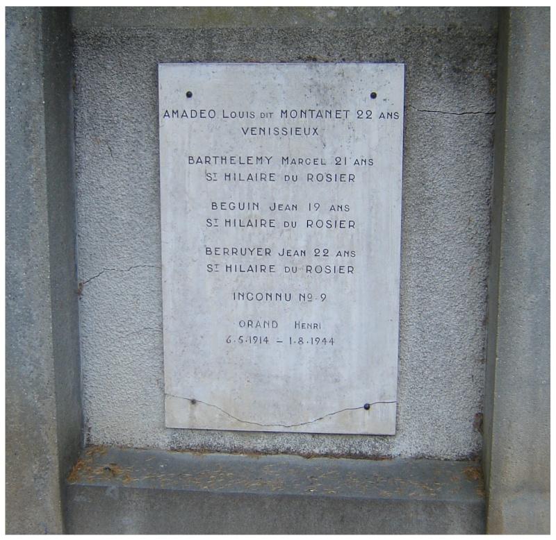 MEMORIAL de Saint Nazaire en Royans dans le Vercors. 110