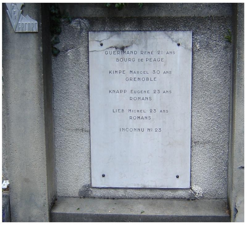 MEMORIAL de Saint Nazaire en Royans dans le Vercors. 810