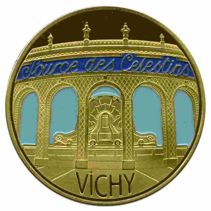 Souvenirs et Patrimoine 40mm = 88 et il doit en manquer Vichy10