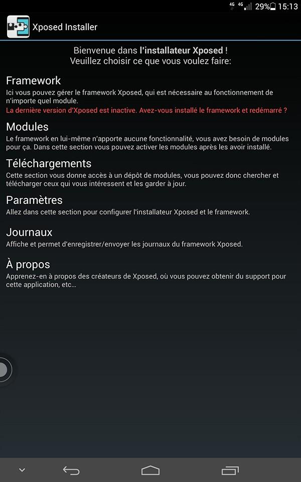 [AIDE] XPOSED FRAMEWORK : Installation du Framework sur Huawei Mediapad X1 Screen11
