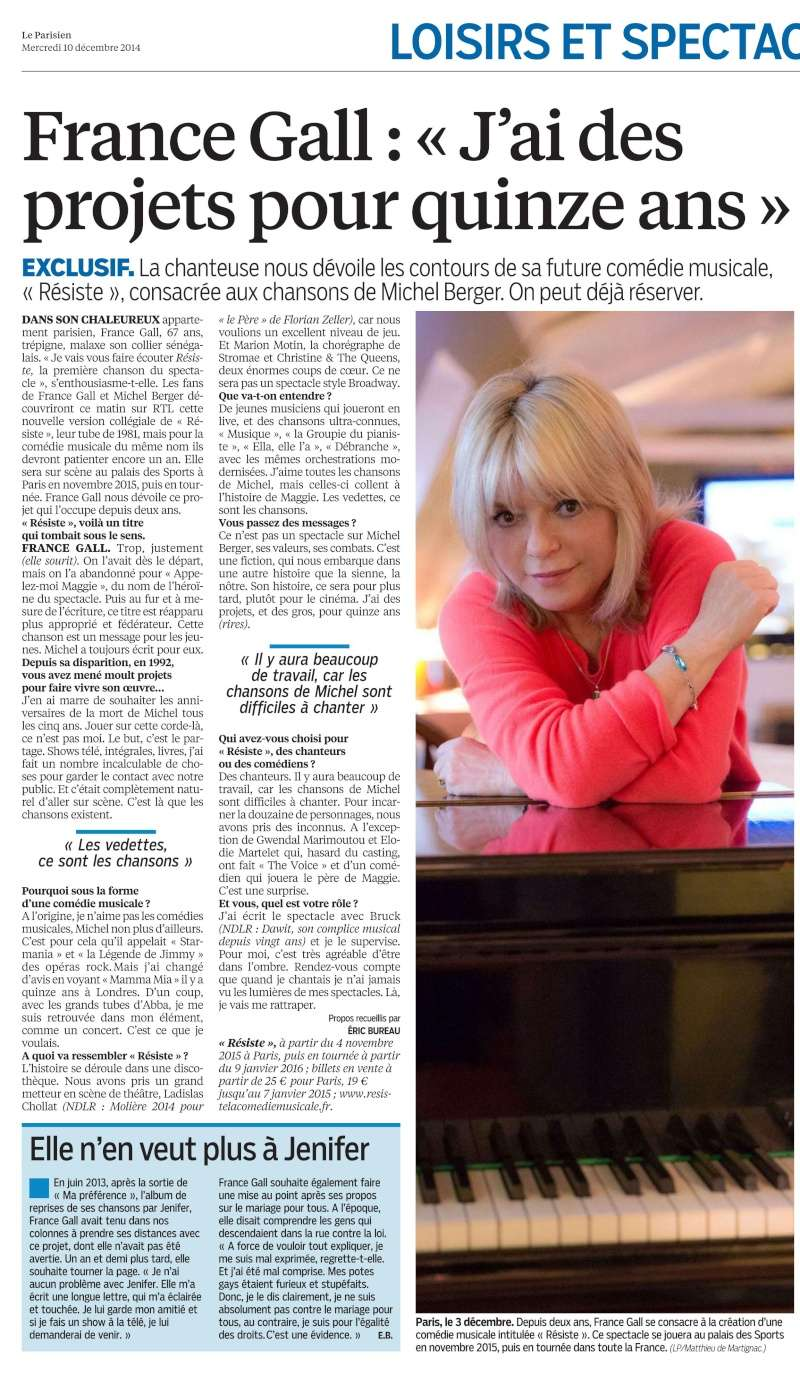 "Spectacle Musical ""Résiste"" - Page 4 France12"