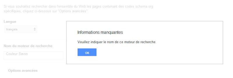 Problème pour mettre la barre de recherche Google Google10