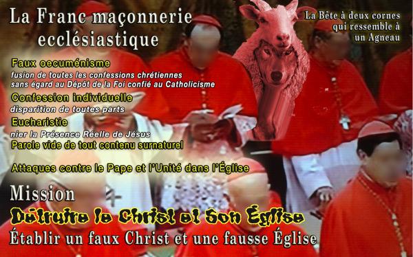 La Bête semblable à un agneau, la Franc-Maçonnerie ecclésiastique, expliquée à D. Gobbi par Marie ! Agneau10