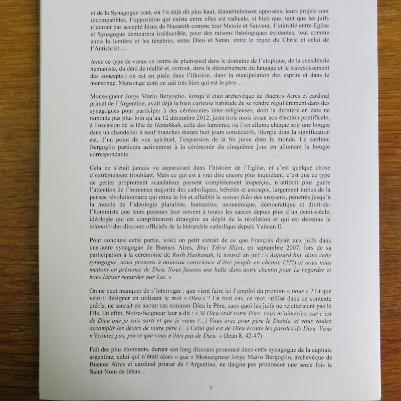 L'étrange Pontificat du Pape François - Un commentaire de Miles Christi ! Img_1428