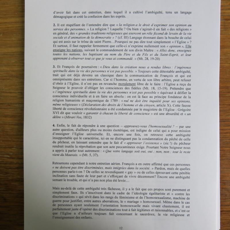 L'étrange Pontificat du Pape François - Un commentaire de Miles Christi ! - Page 2 Img_1433