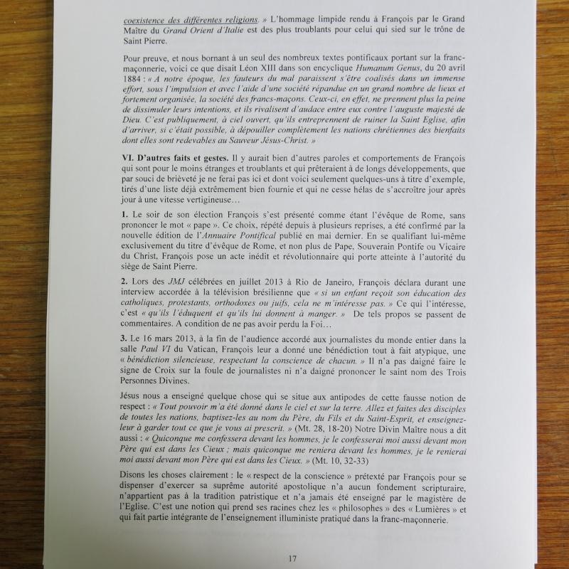 L'étrange Pontificat du Pape François - Un commentaire de Miles Christi ! - Page 2 Img_1522