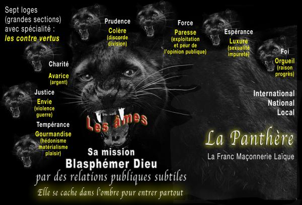 La Bête semblable à une Panthère, la Franc-Maçonnerie laïque expliquée à D. Gobbi par Vierge Marie ! La-pan10