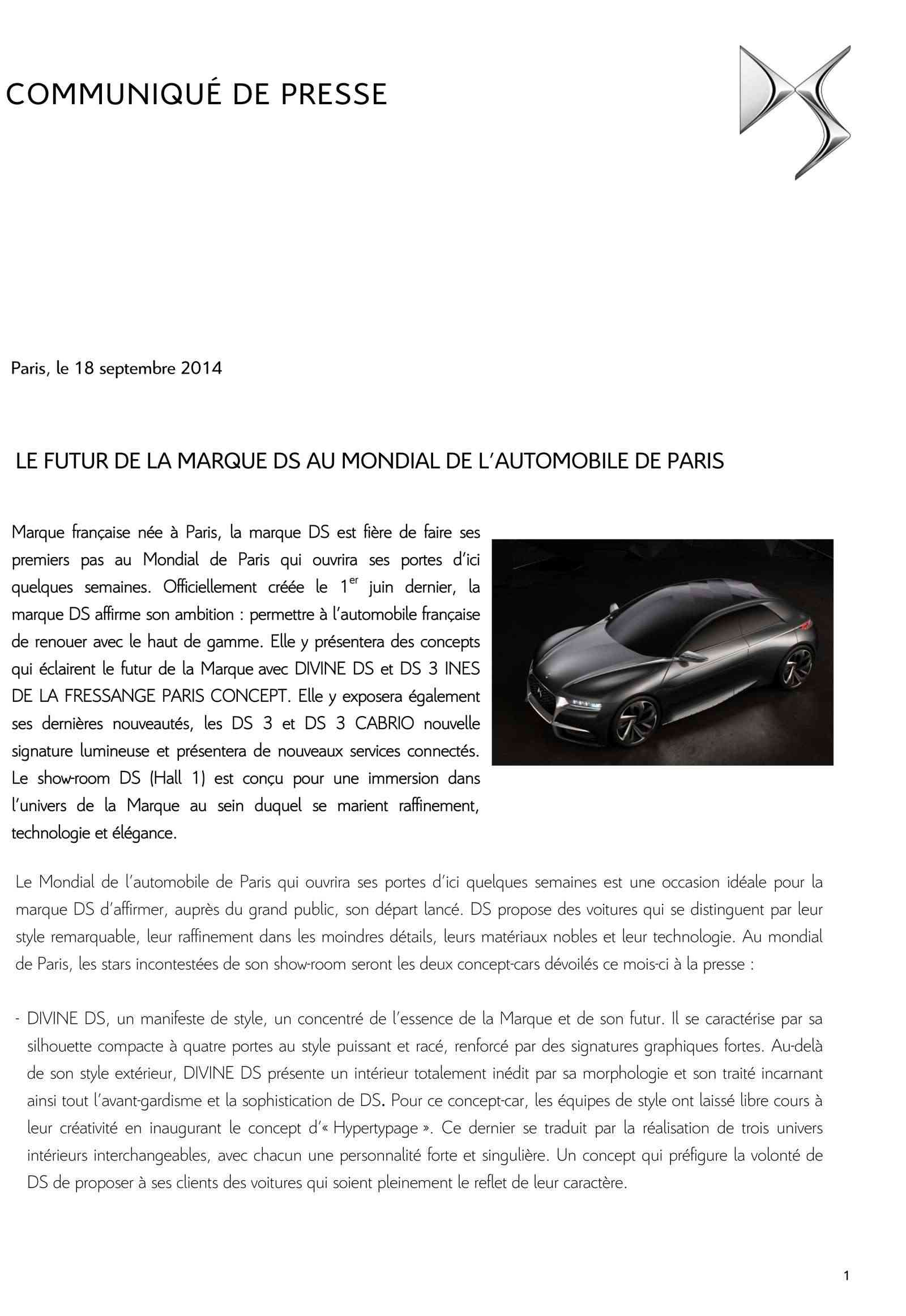 [SALON] Paris - Mondial de l'Automobile 2014 - Page 4 Cp_ds_15