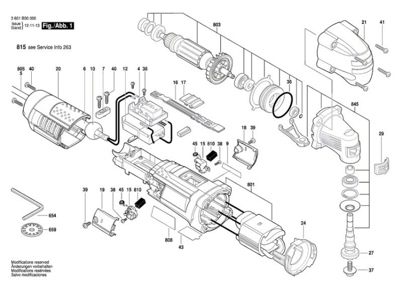 Casse porte-outil sur multi fonctions Bosch GOP 250 Eclata10