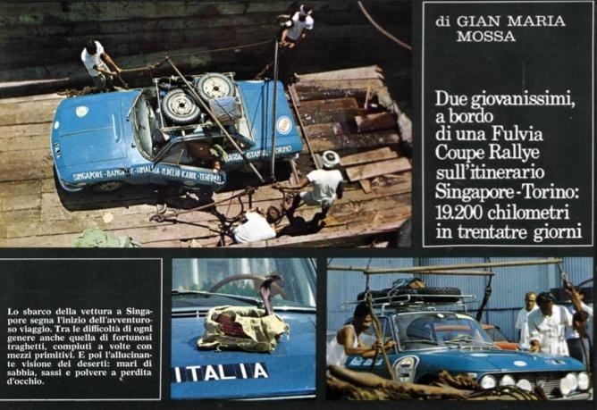 Cesare Fiorio, Mario Allegri e Walter Bonatti in Fulvia a Capo Nord: avventura e misteri 1968si11