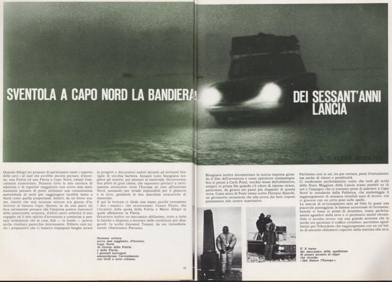 Cesare Fiorio, Mario Allegri e Walter Bonatti in Fulvia a Capo Nord: avventura e misteri 1nord10