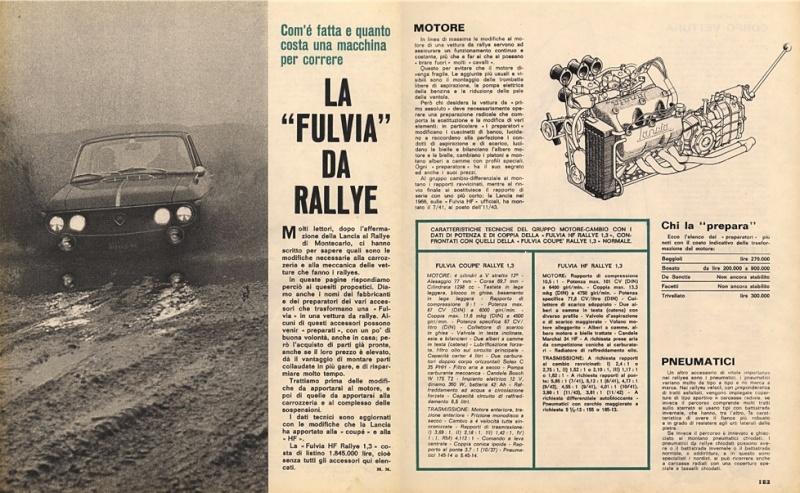"""Una fulvia da """"rallye"""" Fulvia15"""