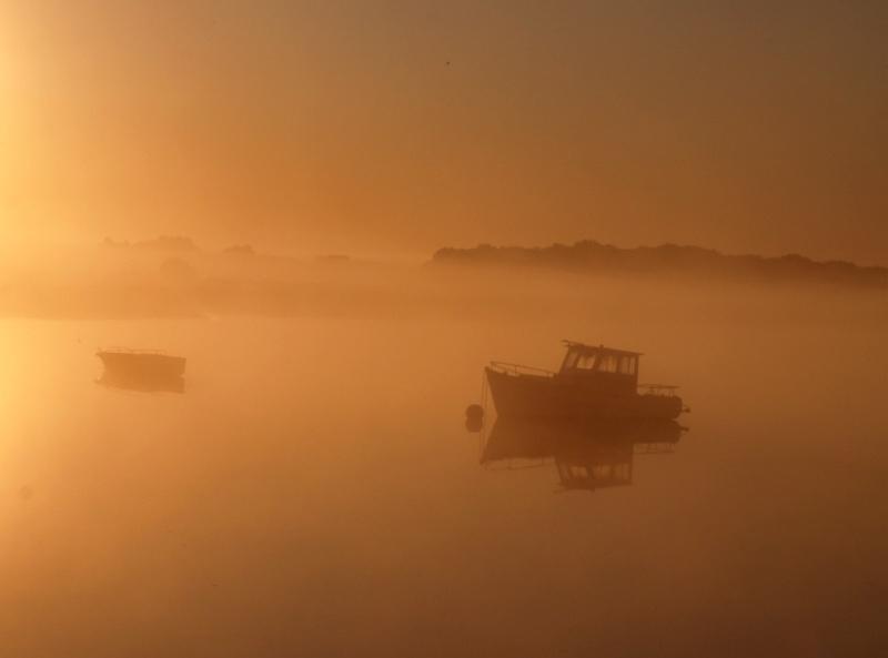 Dans la brume matinale  Bateau11