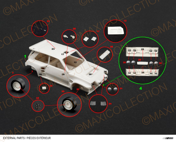 Nouvelle kit resine Renault 5 Maxi Turbo  Instru11