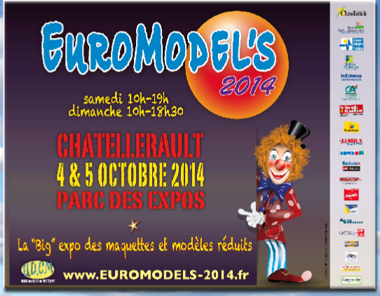 4-5 octobre 2014 - 86 - CHATELLERAULT - EUROMODELS Affich10