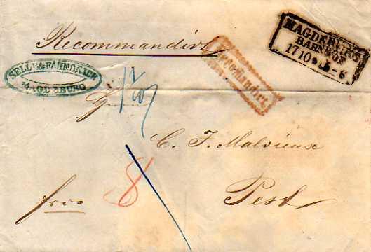 Postverhältnisse Preußen - Österreich Magdeb10