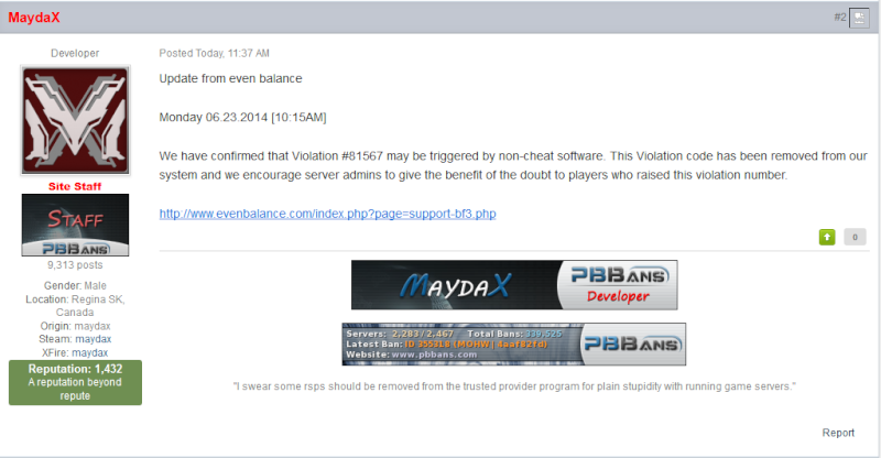 BF4 new bans  maybe bad Latest10
