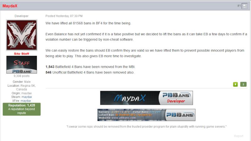 BF4 new bans  maybe bad Pb11
