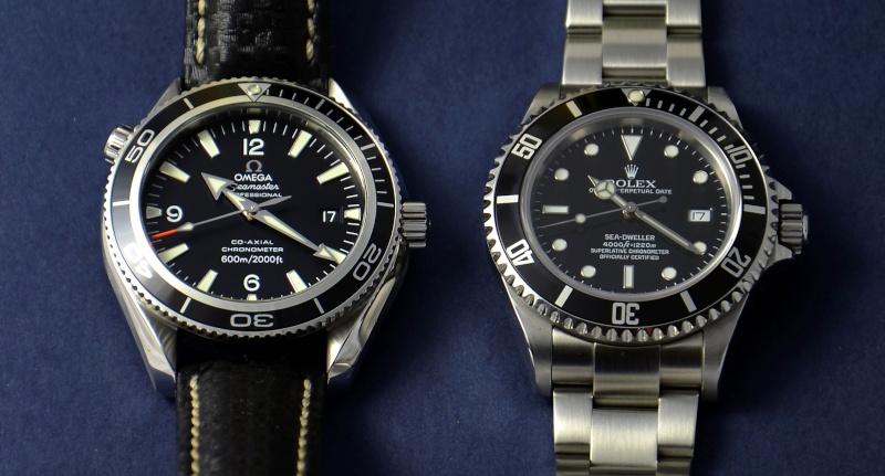 Dweller - Rolex Sea Dweller 16600 versus Omega Planet Ocean 2500 Cadran10