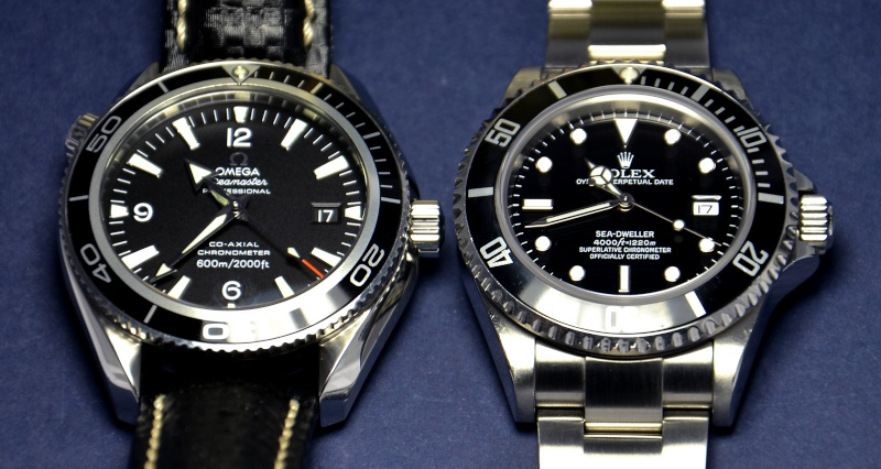 Dweller - Rolex Sea Dweller 16600 versus Omega Planet Ocean 2500 Cadran11