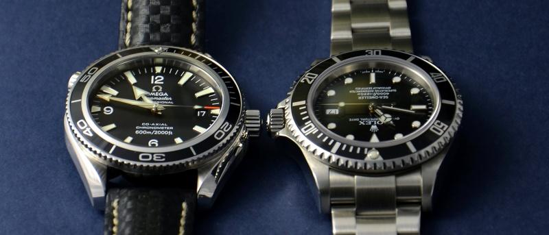 Dweller - Rolex Sea Dweller 16600 versus Omega Planet Ocean 2500 Cadran12