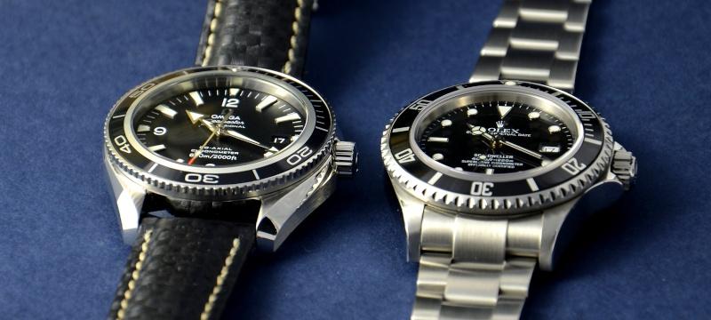 Dweller - Rolex Sea Dweller 16600 versus Omega Planet Ocean 2500 Cadran13