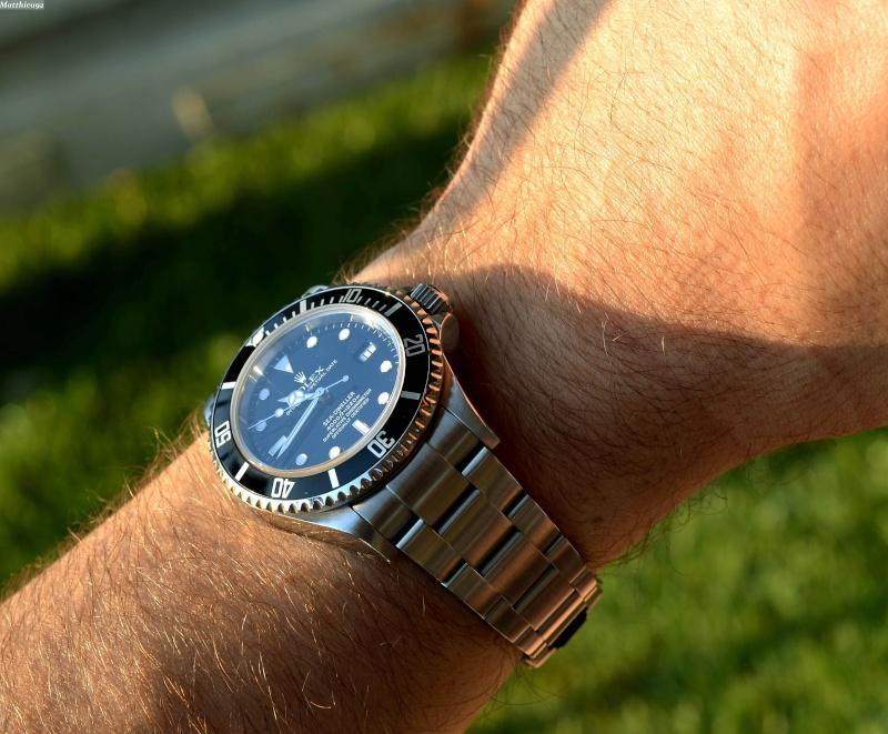 Dweller - Rolex Sea Dweller 16600 versus Omega Planet Ocean 2500 Wrist_11
